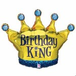 Betallic 36 Inch Birthday King Crown Balloon