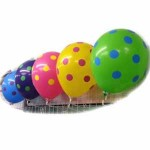 "Mytex 12"" Inch AO Colorful Polka Dots Mix Color ~ 10pcs"