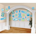 1st Birthday Boy Cutouts 30ct  (Blue) by Amscan