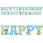 Mickey Mouse 1st Birthday Jumbo Letter Banner Kit By Amscan Amscan