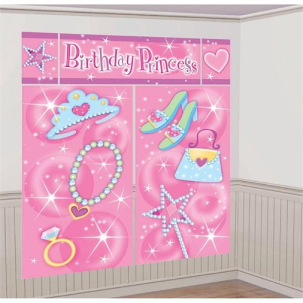 Princess Party Scene Setter (5pc) by Amscan Amscan