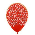 """Sempertex 12"""" Inch AO Butterflies & Flower Red ~ 10pcs"""
