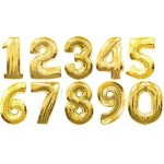 16 Inch Gold Numbers Foil Balloons 0-9