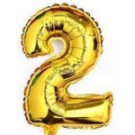 "40 inch Number ""2"" Foil Balloon Gold"