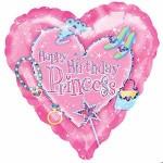 Anagram 18 inch Happy Birthday Princess - Holographic