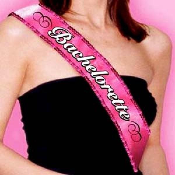 Bachelorette Party Fabric Sequin Sash Amscan