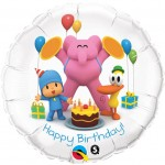 Qualatex 18 inch Pocoyo & Friends Happy Birthday