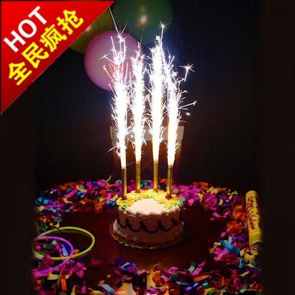Firework Candle For Birthday Cakes Sparklers Candles From