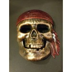 Ghost Rider skeleton masks - Gold
