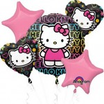 Happy Birthday Tween Hello Kitty Balloon Bouquet 5pc