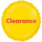 """Anagram Clearance 18"""" Round Foil Balloon Yellow ~ 3pcs"""