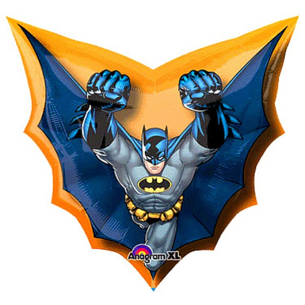 Batman Cape Shape Foil Balloon 28 X 27 Inch From Category Character Balloons Balloonmalaysia Com