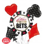 Casino Balloon Bouquet 5pc