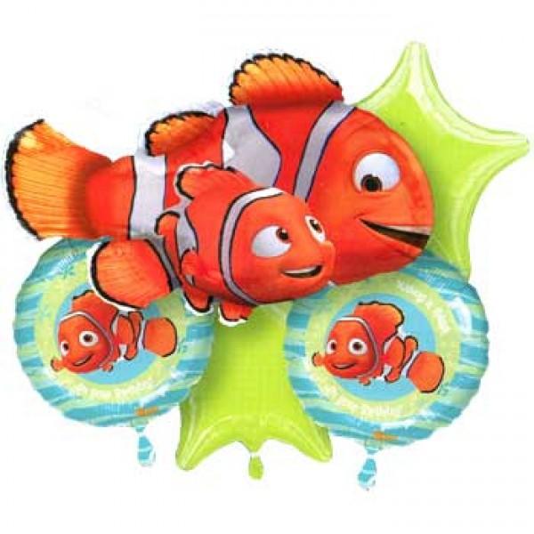 Finding Nemo Balloon Bouquet 5pc Anagram