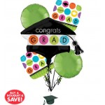 Graduation Balloon Bouquet 5pc - Colorful Commencement