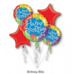 Happy Birthday Blitz Balloon Bouquet 5pc