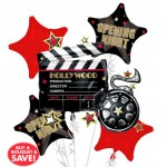 Hollywood Opening Night Balloon Bouquet 5pc