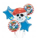 Pirate's Treasure Party Balloon Bouquet 5pc