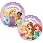 "Princess Happy Birthday 17"" Inch Balloon ~ 2 Sided"