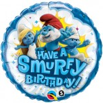 "Qualatex 18"" Inch Have A Smurfy Birthday Balloon"