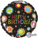 Qualatex 18 inch Holographic Birthday Funky Dots