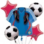 Soccer Jersey & Soccer Ball Balloon Bouquet 5pcs
