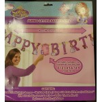 Sofia the First Jumbo Happy Birthday Add an Age Banner