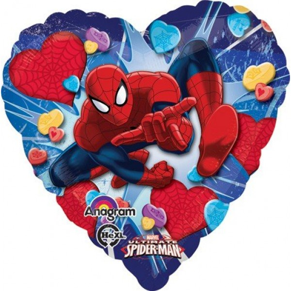 Ultimate Spiderman Love Heart 18 inch Balloon Anagram