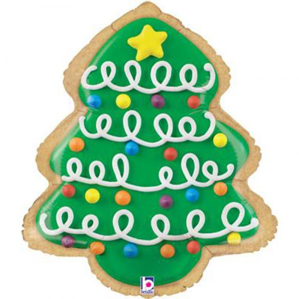 Christmas Balloons - Betallic 25 inch Christmas Tree Cookie shape