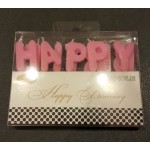 Happy Birthday Pink Color Candle