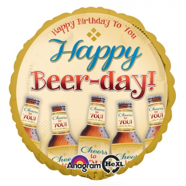 Anagram 17 inch Happy Beer-Day Anagram
