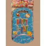 Happy Party Goody Bags ~ Blue x10pcs