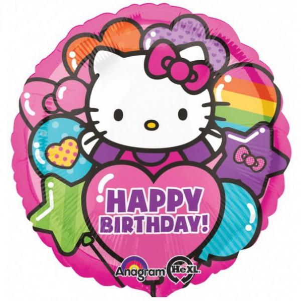 Character Balloons - Anagram 17 inch Hello Kitty Rainbow Happy Birthday