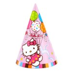 Hello Kitty Balloon Dreams Party Cone Hats ~ 8pcs