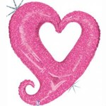 Betallic Mini Chain of Heart Pink