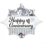 Anagram 17 x 19 Inch Elegant Happy Anniversary Burst