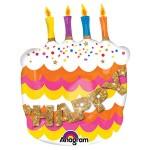 Anagram 22 x 27 inch Happy Birthday Fancy Cake
