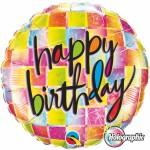 Qualatex 18 inch Holographic Birthday Kaleidoscope