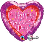 Qualatex 18 inch Holographic Valentine's Dazzling Hearts