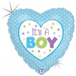 Betallic 9 inch Baby Boy Dots