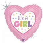 Betallic 9 inch Baby Girl Dots