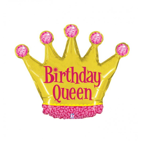 Birthday Balloons - Betallic Mini Shape Birthday Queen