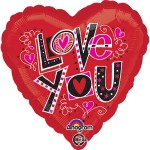 Anagram 17 inch Love You Fun Type