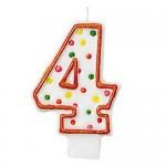 Amscan Polka Dots #4 Candle
