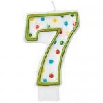 Amscan Polka Dots #7 Candle