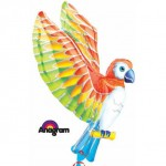 Anagram 22''x41'' Colorful Parrot Foil Balloon