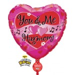 "Qualatex 31"" U & Me Harmony Singing Balloon"