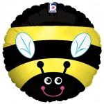 Betallic 18'' Inch Bee Yellow Balloon