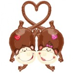 Anagram 38'' Inch Monkey Love Linking Balloon