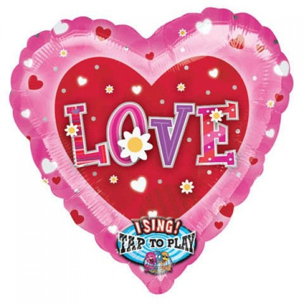 "Anagram 28"" Inch Musical LOVE Sing-A-Song Balloon"